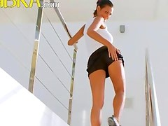 Busty pornstars hot morning excercises