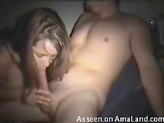 Beautiful blonde slut handjob action here