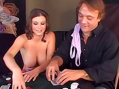 Sara Stone screwed in strip poker game