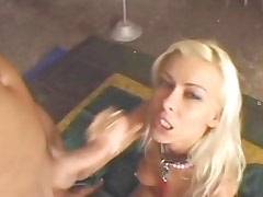 Niki Blond gets her face drizzled with thick cum