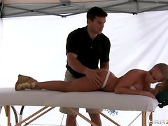 Nikki Delano Enjoys a Super Sexy Massage by the Sea