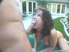 Hot Bombshell Melanie Stone Getting Drilled Outdoors
