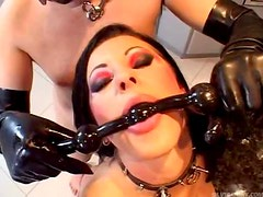 Sexy Euro domination whore in some serious action