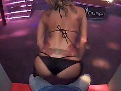 Blonde Stripper Ass Shaking and Gyrating