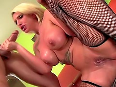 Curvy Kelly Staxxx sex in fishnets