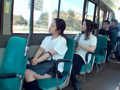 Japanes Schoolgirl Gets Rough Fingering On Bus In Public