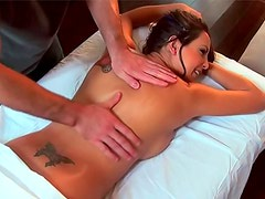 Post workout massage gets this chick laid