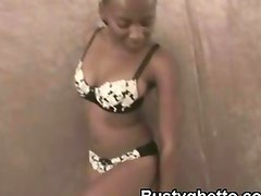 Black Afro Ho Stripping Hot