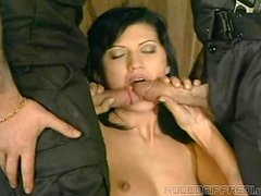Guns & Double Penetration With Cum In Mouth.