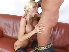 Danielle Derek gets her mouth filled with hard cock