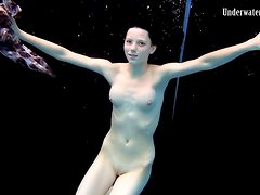 Teens swim and strip nude in underwater video
