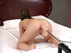 Fucking machines - extreme kream on anal dildo