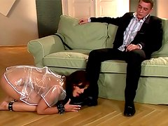 Sub girl accepts spanking on her ass
