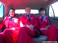 A Mile High Orgy With Threesome Hot Plane Pilots