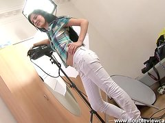 Banging Brunette Girl Lucianna's Asshole with a Big Dick in POV