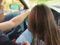 18yo hungarian girl fucked on the car