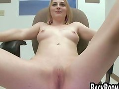 Blonde chick gets naughty with her pussy