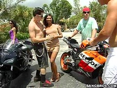 Hot orgy With Horny Ladies And Solid Hard Biker Guys