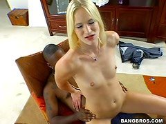 Biggest black cock interracial action with dildo inserting