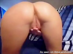 Horny Babe Plays With Her Pink Shaved Pussy In An Up Close Vid