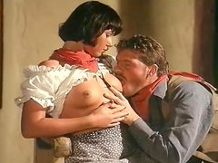 Two gorgeous babes get banged by a cowboy from New Mexico