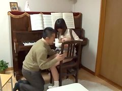 Music teacher seduces his student and fucks her vag from behind