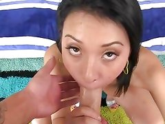 Alluring Jayden Lee slavers over this stiff shaft