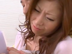 Wild Office Sex with Busty Japanese Secretary Chihiro Akino