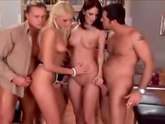 All Euro foursome with sucking and fucking