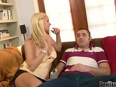 Totally Tabitha the naughty blonde MILF gets fucked by son in law