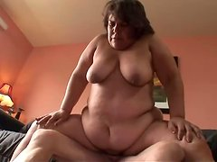Obese Shelby Sweet sucks a cock before taking it in her fleshy cunt