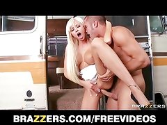 Rikki Six spreads her tight pussy for the biggest dick