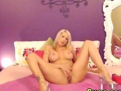 Hot Blonde Double Dildo Penetration on Webcam HD