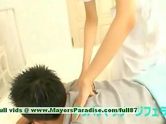 Miriya Hazuki innocent asian girl giving a blowjob