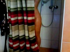 amazing girl takes a shower on webcam