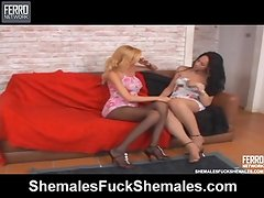 Renata and Isabelle adorable lady-boys on action