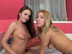 Cute brunette Nelly Sullivan gets her pussy fisted by Nikky Thorne