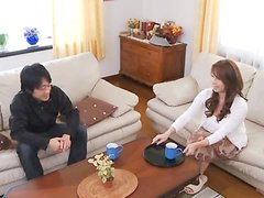 Yumi Kazama Invites a Guy For Coffee and Gets Her Pussy Drilled