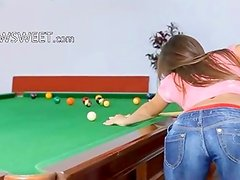 The most erotic woman on billiards