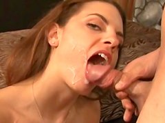 Sexy beauty is making blowjob with pleasure