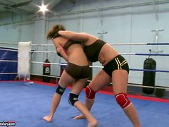 A Hot Lesbian Scene Among Fighters