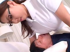 Nasty Japanese nurse gets fucked so that her tits bounce