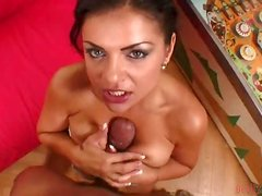 Busty Babe is into Big Black POV Clips