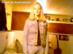 Sexy blonde teen babe gets fucked and facialized