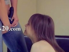 Young lesbians enjoying sex with toy