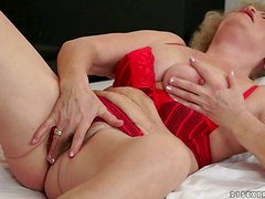 Being Effiecient to Make a Horny Granny Reach an Orgasm