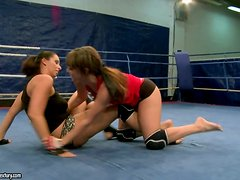 Anal Pleasing With A Dildo In The Middle Of The Ring