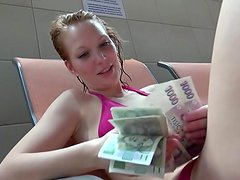 Electra Angel being fucked in anal for cash