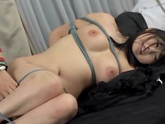 Kinky Teen Megumi Haruka Gets Tied Up And Gets Hot Wax