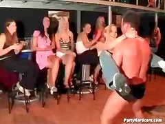 Ladies impressed with the male stripper